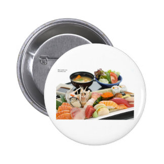 Beautiful Sushi (Mix) Plate Gifts Tees Cards Etc Pinback Button