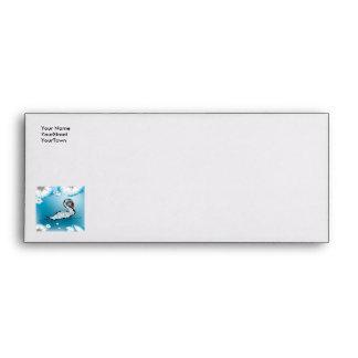 Beautiful swan envelope