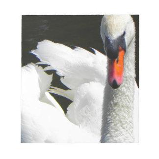 Beautiful swan notepad