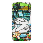 Beautiful Swans Stained Glass Art Covers For iPhone 5