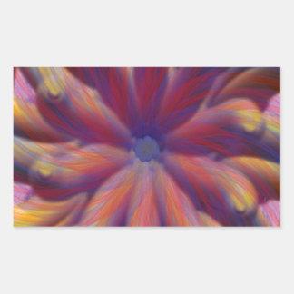 Beautiful Swirl Rectangular Sticker