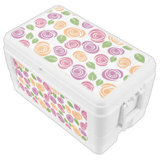 Beautiful Swirl Rose Floral Pattern Cooler