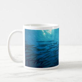Beautiful Swirling school of barracuda Mug