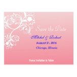 Beautiful Swirls Save the Date Postcard