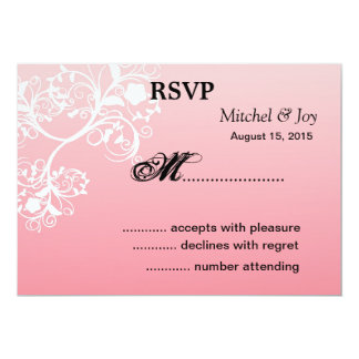 Beautiful Swirls Wedding RSVP Reply Cards