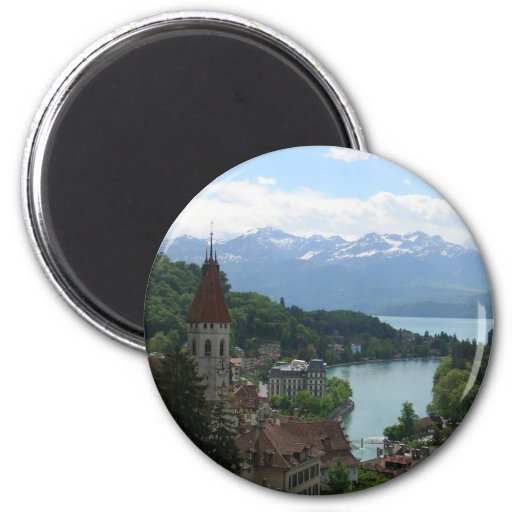 Beautiful Swiss Landscape 2 Inch Round Magnet