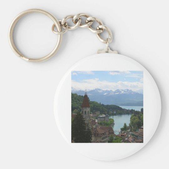 Beautiful Swiss Landscape Keychain