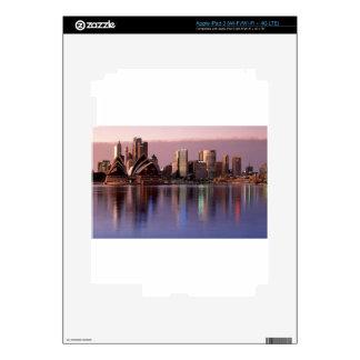 Beautiful Sydney Skyline Skins For iPad 3