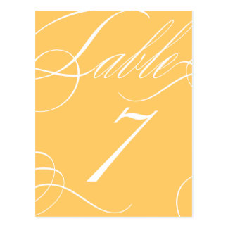 Beautiful Table Number (Customizable Background) Post Cards
