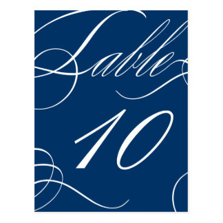 Beautiful Table Number (Customizable Background) Postcard