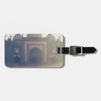 Beautiful Taj Mahal in a foggy day Tag For Luggage