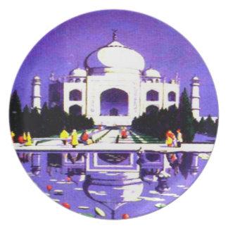 BEAUTIFUL TAJ MAHAL TRAVEL PLATE BY ARA AEON ARTIS