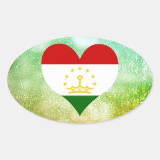 Beautiful Tajik Oval Sticker