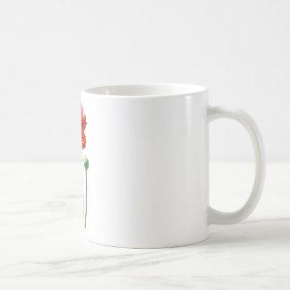 BEAUTIFUL TALL REDISH ORANGE FLOWER CLASSIC WHITE COFFEE MUG