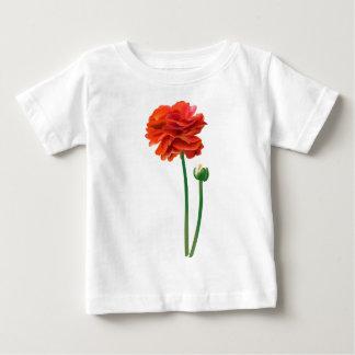 BEAUTIFUL TALL REDISH ORANGE FLOWER T SHIRT