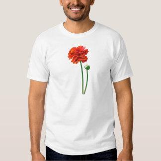 BEAUTIFUL TALL REDISH ORANGE FLOWER T-SHIRT