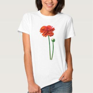 BEAUTIFUL TALL REDISH ORANGE FLOWER TEE SHIRT