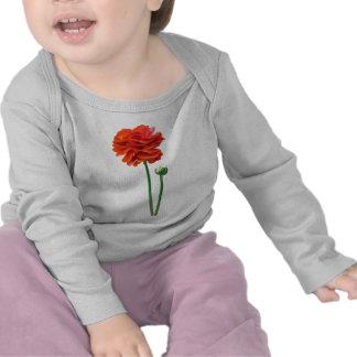 BEAUTIFUL TALL REDISH ORANGE FLOWER TSHIRT