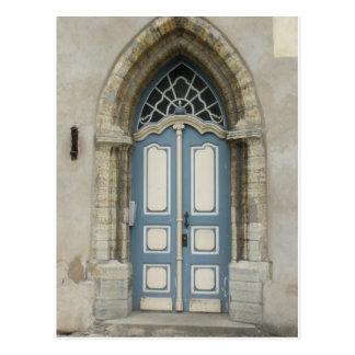 Beautiful Tallinn, Estonian Stone and Wood Doorway Post Card