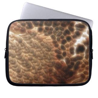 Beautiful Tan Animal Print Laptop Computer Sleeves