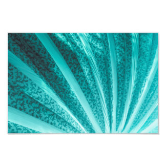 Beautiful Teal Curve Vintage Fabric Abstract Photo Print