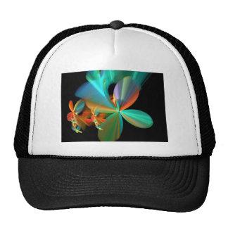 Beautiful Teal & Orange Fractal Art Flower Petals Trucker Hat