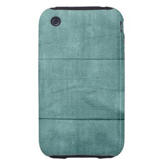 Beautiful Teal Wood Texture iPhone 3 Tough Cover
