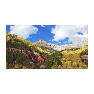 Beautiful Telluride in Golden Autumn Canvas Print