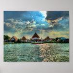 Beautiful Temples near Bangkok at dusk Posters