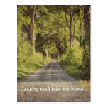 Beautiful Tennessee Country Road Postcard