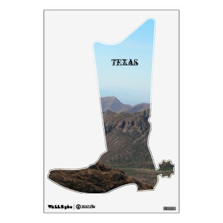 Beautiful Texas Landscape-Boot Wall Decal