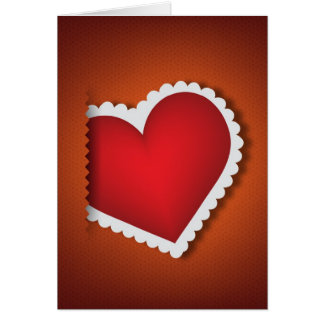 Beautiful textile heart - Valentine s Day Card