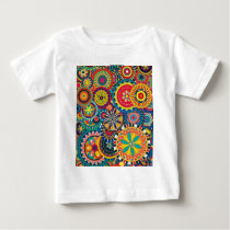 Beautiful Texture floral colorful Pattern Baby T-Shirt