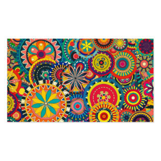 Beautiful Texture floral colorful Pattern Double-Sided Standard Business Cards (Pack Of 100)