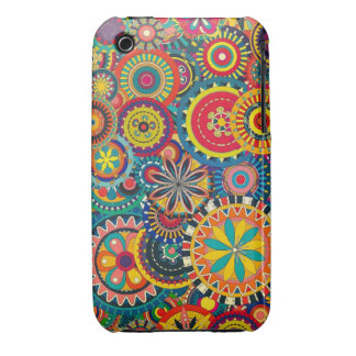 Beautiful Texture floral colorful Pattern Case-Mate iPhone 3 Cases