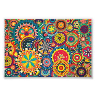 Beautiful Texture floral colorful Pattern Photo Print
