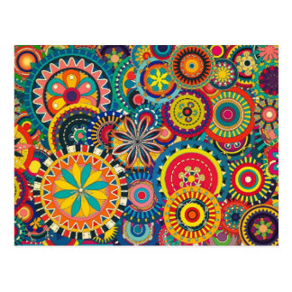 Beautiful Texture floral colorful Pattern Postcard