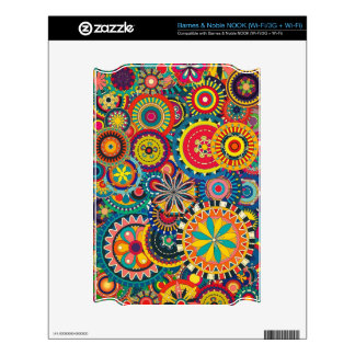 Beautiful Texture floral colorful Pattern Skins For NOOK