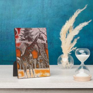 Beautiful Textured Giraffe Plaque
