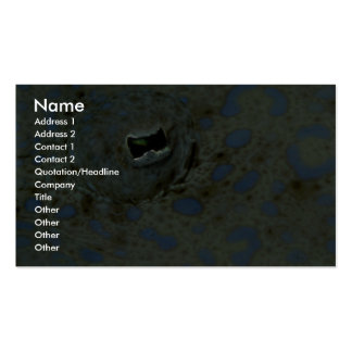Beautiful The unusual eye of a peacock flounder Business Card Template