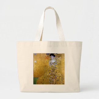 Beautiful The Woman in Gold Gustav Klimt Large Tote Bag