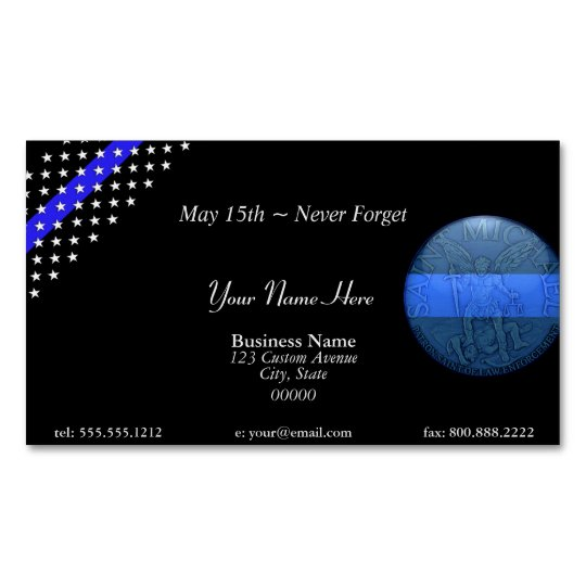 Beautiful thin blue line police st michael business card magnet beautiful thin blue line police st michael business card magnet colourmoves