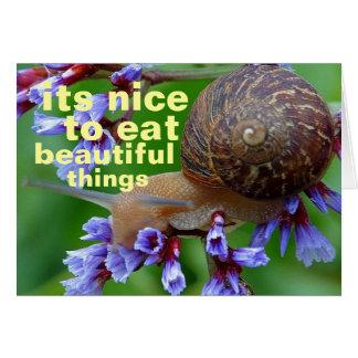 beautiful things greeting card