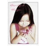 Beautiful things... greeting card