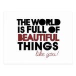 Beautiful things postcard