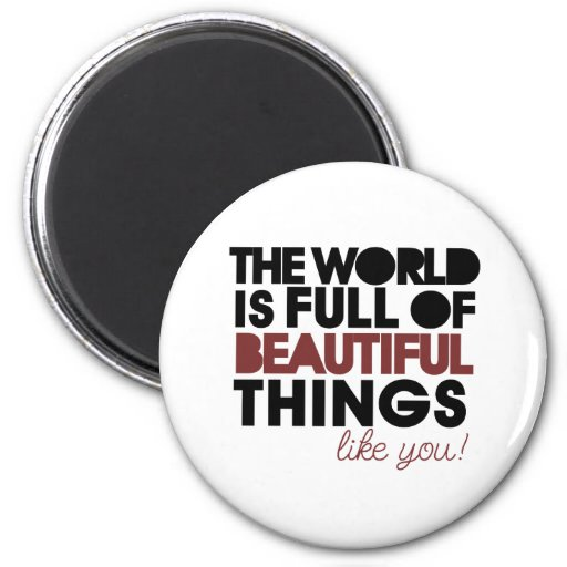 Beautiful things refrigerator magnet