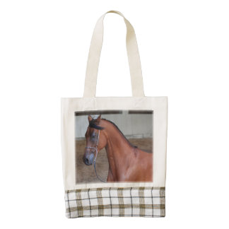Beautiful thoroughbred arabian stallion zazzle HEART tote bag