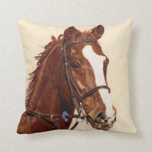 Beautiful Thoroughbred Horse American MoJo Pillows