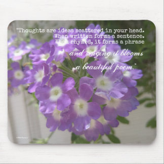 Beautiful Thoughts Poem Mousepad