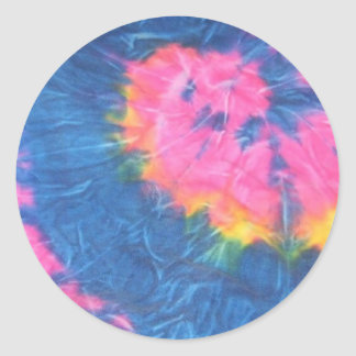 Beautiful Tie Dye Stickers-Retro Classic Round Sticker